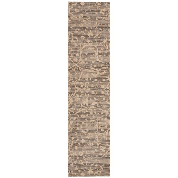 Damask Taupe Rug: Nourison Silk Elements Taupe Damask Rug You'll Love