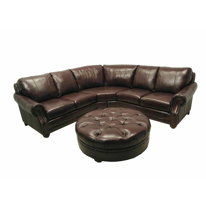 Wildon Home ® Leather Sectional
