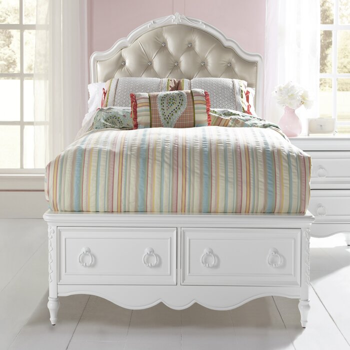 Samuel Lawrence Sweet Heart Panel Bed with Storage