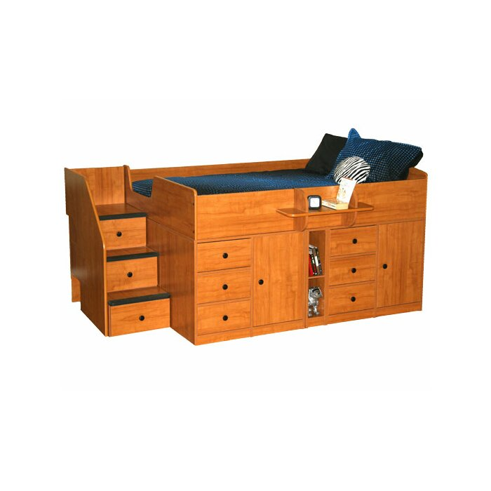 Berg Furniture Sierra Captain Bed with Storage