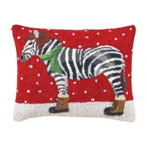 Winter Zebra Pillow