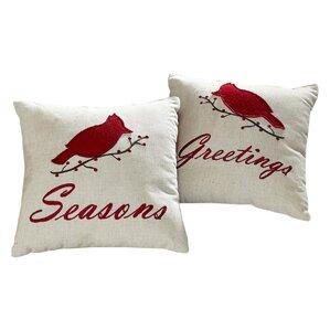 2-Piece Cardinal Pillow Set