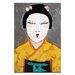 Artist Lane Sun Rise Geisha Close Up by Anna Blatman Art Print on Canvas