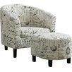 Wildon Home 174 Dewall Barrel Chair And Ottoman Set