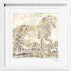 Oliver Gal Burst Creative Brilliant Equestrian Framed Painting Print