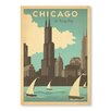 Americanflat Chicago Windy City Vintage Advertisement Wrapped on Canvas
