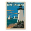 Americanflat New England Lighthouse by Anderson Design Group Vintage Advertisement in Blue
