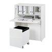 Jahnke Sitwork Computer Desk with Cabinet