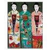 Artist Lane Spring Geisha by Anna Blatman Art Print Wrapped on Canvas