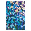 Artist Lane Mauve Flower Bed by Anna Blatman Art Print Wrapped on Canvas