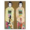 Artist Lane Double Geisha by Anna Blatman Art Print on Canvas