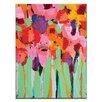 Artist Lane Field of Flowers by Anna Blatman Art Print Wrapped on Canvas