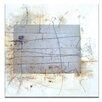 Artist Lane Linear Encaustic 3 by Gill Cohn Art Print on Canvas
