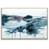 Artist Lane 'A Lighter Shade of Winter' by Lydia Ben-Natan Framed Art Print on Wrapped Canvas