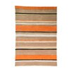 House Additions Infinite Inspire Hand-Tufted Orange Area Rug