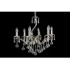 House Additions Superior 6 Light Crystal Chandelier