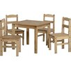 Home & Haus Balder Dining Table and 4 Chairs