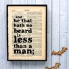 "Bookishly ""He That Hath No Beard..."" by William Shakespeare Framed Typography"