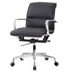 Meelano Vegan Leather Mid Back Office Chair With Arms