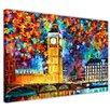 Hokku Designs London 2012 by Leonid Afremov Painting Print on Wrapped Canvas