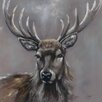 Three Posts Stag Canvas Wall Art