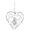 The Seasonal Aisle LED Web Metal Heart Shaped Ornament