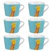 Cambridge Newport Giraffe Fine China Mug (Set of 6)