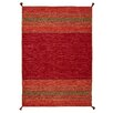 World Menagerie Grijalva Hand-Woven Red Area Rug