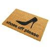 Artsy Doormats Shoes Off Please Doormat