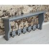 Maine Furniture Co. Heritage Shelf with 6 Coat Hooks
