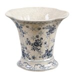 World Menagerie Brahim Pot Shaped Ceramic Capiz Shell Vase