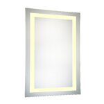 Jerdon Halo Wall Mount Lighted Mirror Amp Reviews Wayfair