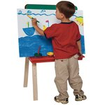 Guidecraft Folding Marker Tray Double Sided Flipchart