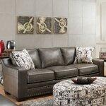 Rosalind Wheeler Bailey Leather Sofa Amp Reviews Wayfair