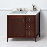 "Briella 36"" Bathroom Vanity Cabinet Base in American Walnut"