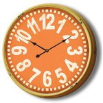 Dcor Design Telechron Butterfly 20 Quot Wall Clock In Gold