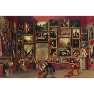 <strong>Buyenlarge</strong> Gallery of The Louvre by Samuel F.B. Morse Painting Print