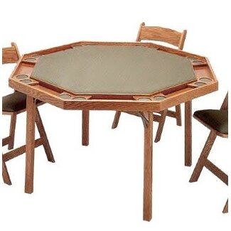 Kestell furniture 52 oak contemporary folding poker table for 52 folding table