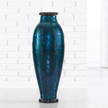 Polivaz Mosaic Urn Floor Vase Amp Reviews Wayfair