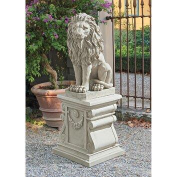 Design Toscano Mansfield Manor Lion Sentinel Statue