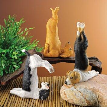 Design Toscano The Zen Of Canine Barkasana Terrier Yoga
