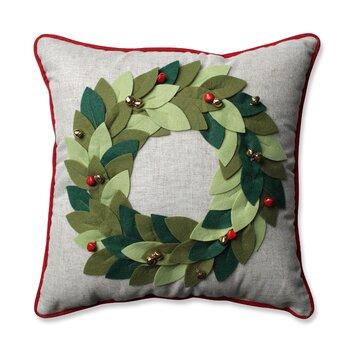 Wayfair Green Throw Pillows : Pillow Perfect Jingle Bells Wreath Throw Pillow & Reviews Wayfair