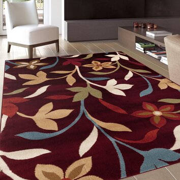 World Rug Gallery Alpine Burgundy Area Rug Amp Reviews Wayfair