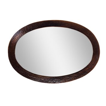 The Copper Factory Oval Mirror Reviews Wayfair