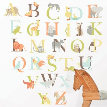 bathrooms for kids wallpops wall kit alphabet zoo wall decal amp reviews 11988