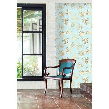 Brewster home fashions bath bath bath volume iv emme coral for Wayfair bathroom wallpaper