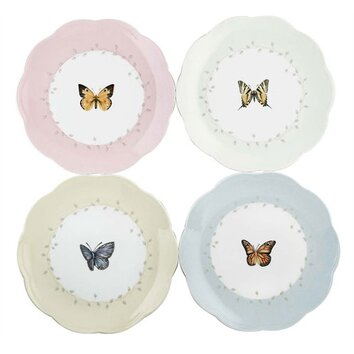 Lenox 4 Piece Butterfly Meadow 8 Quot Dessert Plate Amp Reviews