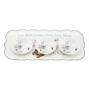 Lenox Butterfly Meadow Sentiment Hors D Oeuvres Serving