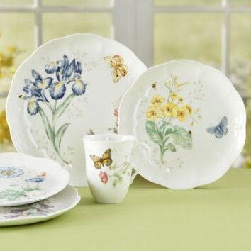 Lenox Butterfly Meadow 18 Piece Dinnerware Set Amp Reviews