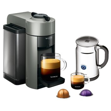 Nespresso Evoluo Coffee & Espresso Maker with Aeroccino + Milk Frother & Reviews Wayfair
